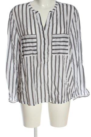 Montego Hemd-Bluse weiß-silberfarben Allover-Druck Elegant