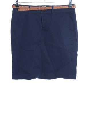 Montego High Waist Rock blau-braun Business-Look