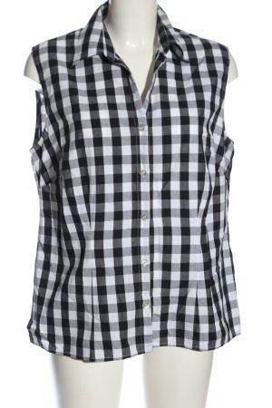 Montego Camisa de leñador negro-blanco estampado a cuadros look casual