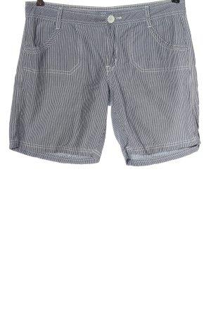 Montego Krótkie szorty jasnoszary-biały Wzór w paski W stylu casual