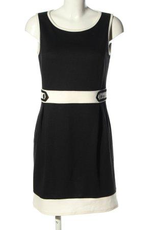Montego Jerseykleid schwarz-weiß Business-Look