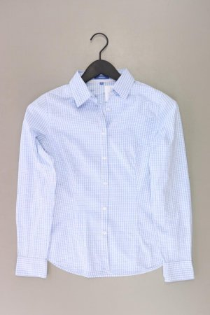 Montego Karobluse Größe 38 kariert Langarm blau aus Baumwolle