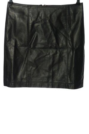 Montego Spódnica z imitacji skóry czarny W stylu casual
