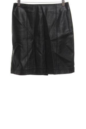 Montego Spódnica z imitacji skóry czarny Elegancki