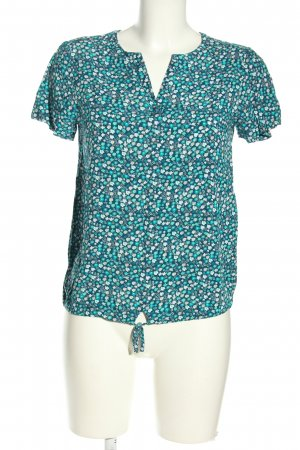 Montego Kurzarm-Bluse abstraktes Muster Casual-Look