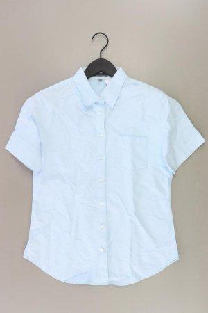 Montego Short Sleeved Blouse blue-neon blue-dark blue-azure cotton