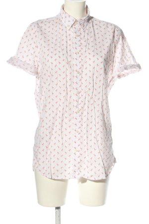 Montego Kurzarmhemd weiß-pink Allover-Druck Casual-Look