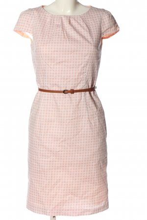 Montego Kurzarmkleid pink-weiß grafisches Muster Casual-Look