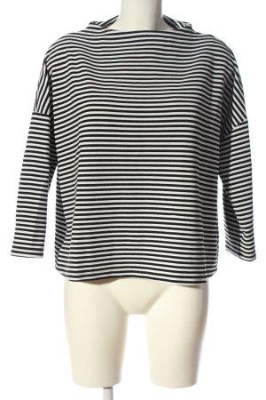 Montego Longsleeve schwarz-weiß Streifenmuster Casual-Look