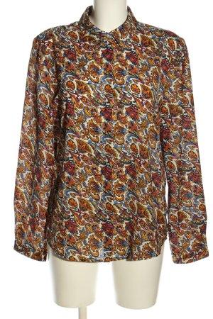 Montego Langarm-Bluse abstraktes Muster Business-Look