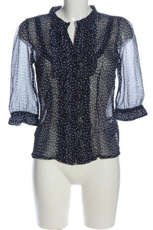 Montego Langarm-Bluse schwarz-weiß Casual-Look