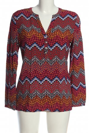 Montego Langarm-Bluse Allover-Druck Casual-Look