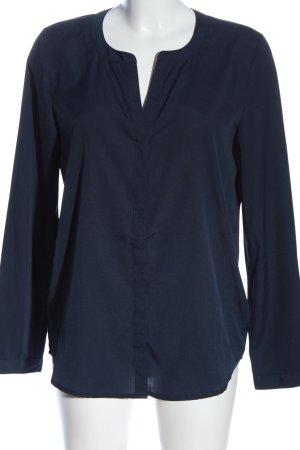 Montego Langarm-Bluse blau Casual-Look