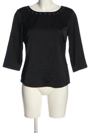 Montego Langarm-Bluse schwarz Casual-Look