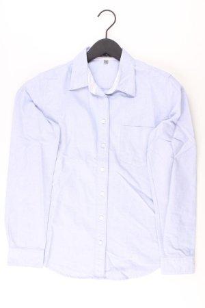 Montego Long Sleeve Blouse blue-neon blue-dark blue-azure cotton