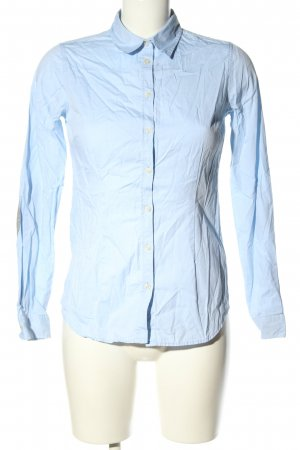 Montego Langarmhemd blau Business-Look