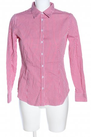 Montego Langarmhemd pink-weiß Karomuster Business-Look