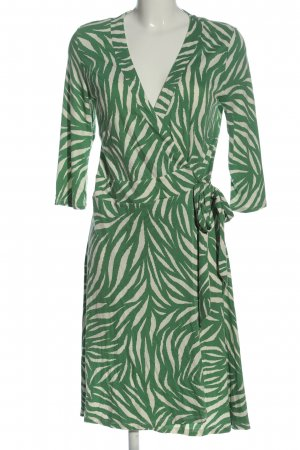 Montego Abito a maniche lunghe verde-bianco sporco stampa integrale stile casual