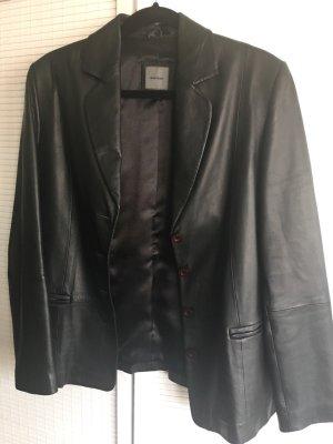 Montego Blazer de cuero negro