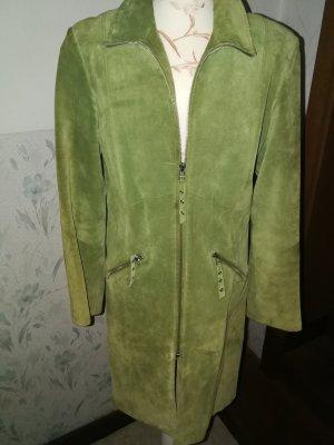 Montego Cappotto in pelle verde chiaro