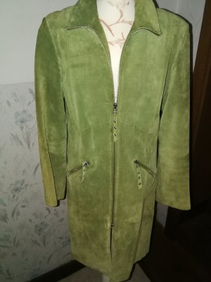 Montego Leather Coat lime-green