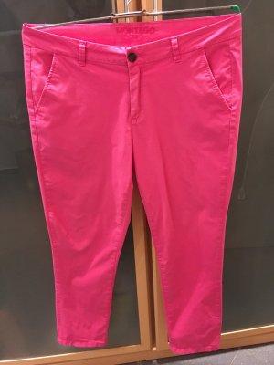 Montego Pantalon cinq poches rose coton
