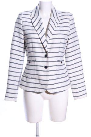 Montego Long-Blazer weiß-hellgrau Streifenmuster Casual-Look