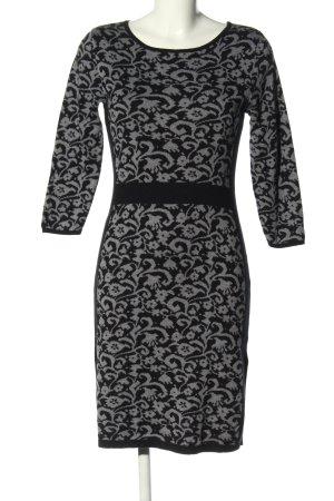 Montego Jerseykleid schwarz-hellgrau grafisches Muster Casual-Look