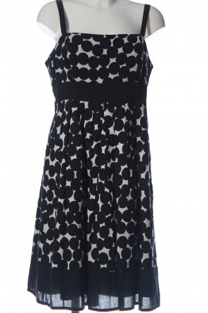 Montego Minikleid schwarz-weiß Allover-Druck Elegant