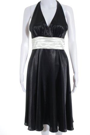 Montego Neckholderkleid schwarz-weiß Elegant