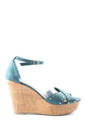 Montego Platform Sandals turquoise casual look