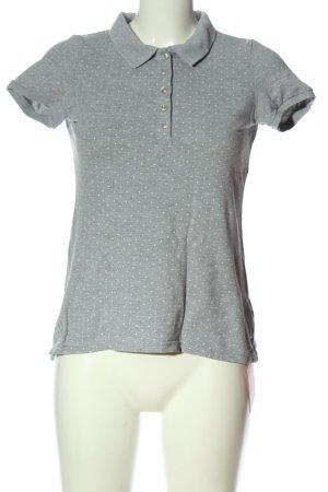 Montego Polo-Shirt hellgrau-weiß Punktemuster Casual-Look