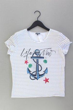 Montego Printshirt Größe L gestreift Kurzarm mehrfarbig