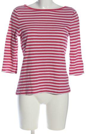 Montego Ringelshirt rot-weiß Allover-Druck Casual-Look