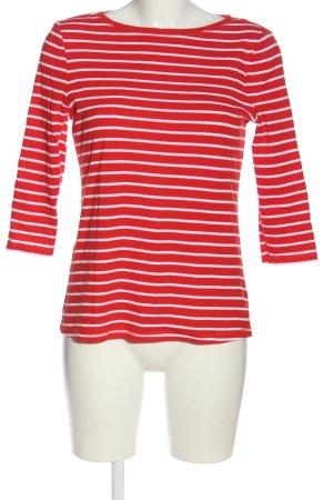 Montego Ringelshirt rot-weiß Streifenmuster Casual-Look