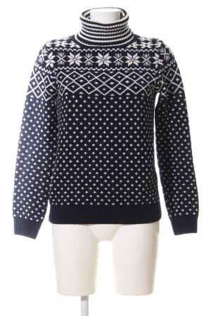 Montego Turtleneck Sweater black-white allover print casual look