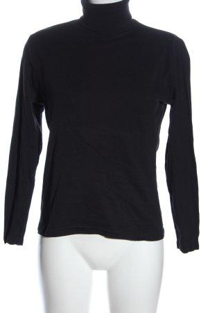 Montego Rollkragenpullover schwarz Casual-Look