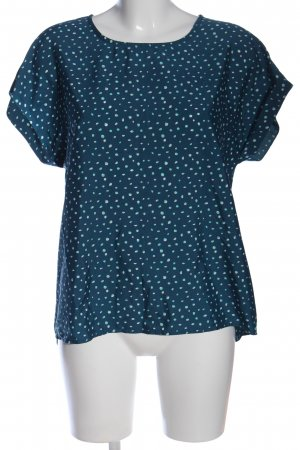 Montego Schlupf-Bluse blau-weiß Allover-Druck Business-Look