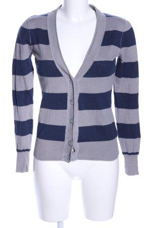Montego Shirtjacke hellgrau-blau Streifenmuster Casual-Look