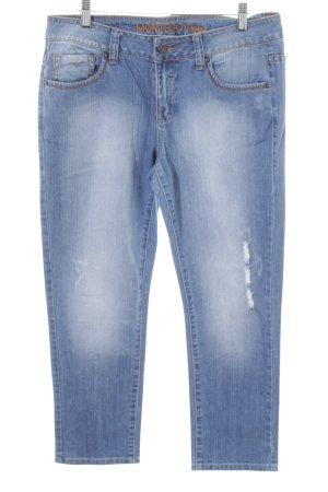 Montego Slim Jeans blau Casual-Look