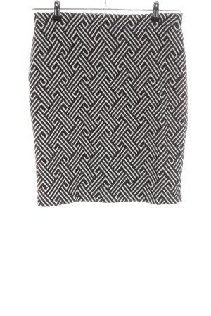 Montego Stretchrock schwarz-weiß Allover-Druck Business-Look