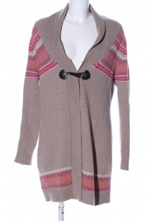 Montego Strick Cardigan grafisches Muster Casual-Look