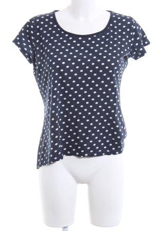 Montego T-Shirt blau-weiß Allover-Druck Casual-Look