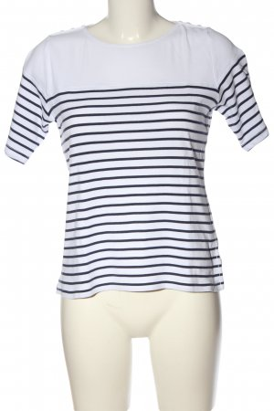Montego T-Shirt weiß Streifenmuster Casual-Look
