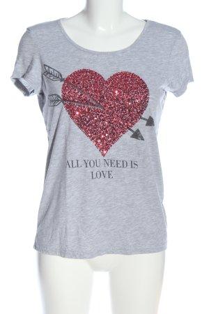 Montego T-Shirt hellgrau meliert Casual-Look