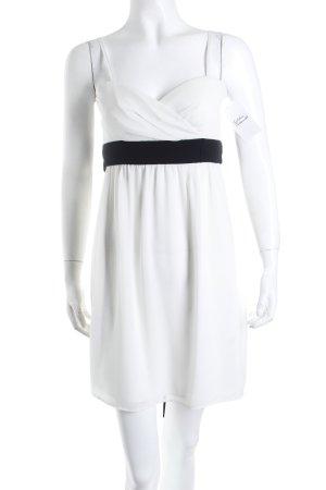 Montego Trägerkleid weiß-schwarz Schleifen-Detail