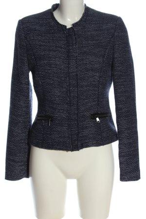 Montego Tweed blazer blauw-wit gestippeld elegant