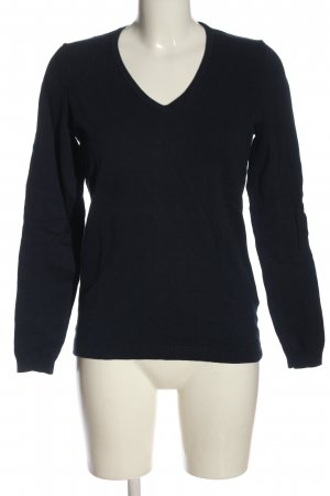 Montego V-Ausschnitt-Pullover schwarz Casual-Look