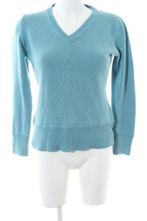 Montego V-Ausschnitt-Pullover türkis Casual-Look