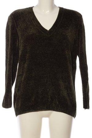 Montego V-Ausschnitt-Pullover braun Casual-Look